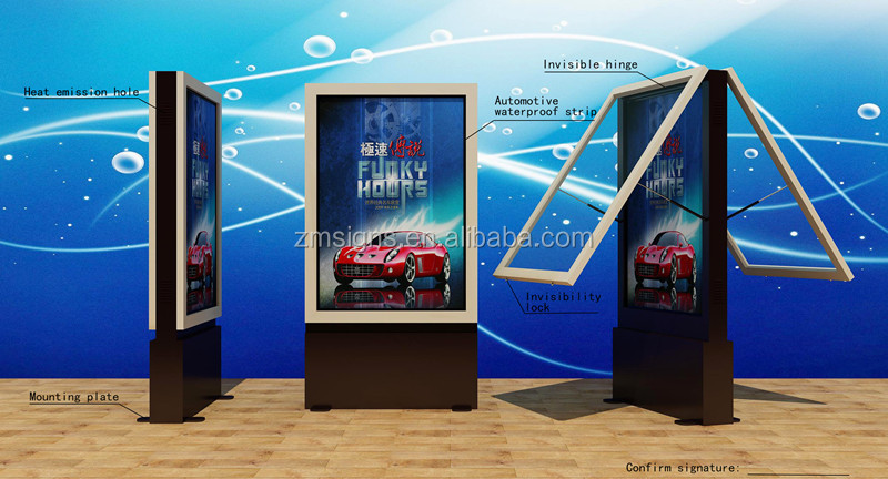 Poster Rolling Board Signboard Lightbox Advertising Light Box ...