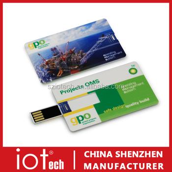 Custom Logo Printable Business Card Usb Flash Drives Bulk