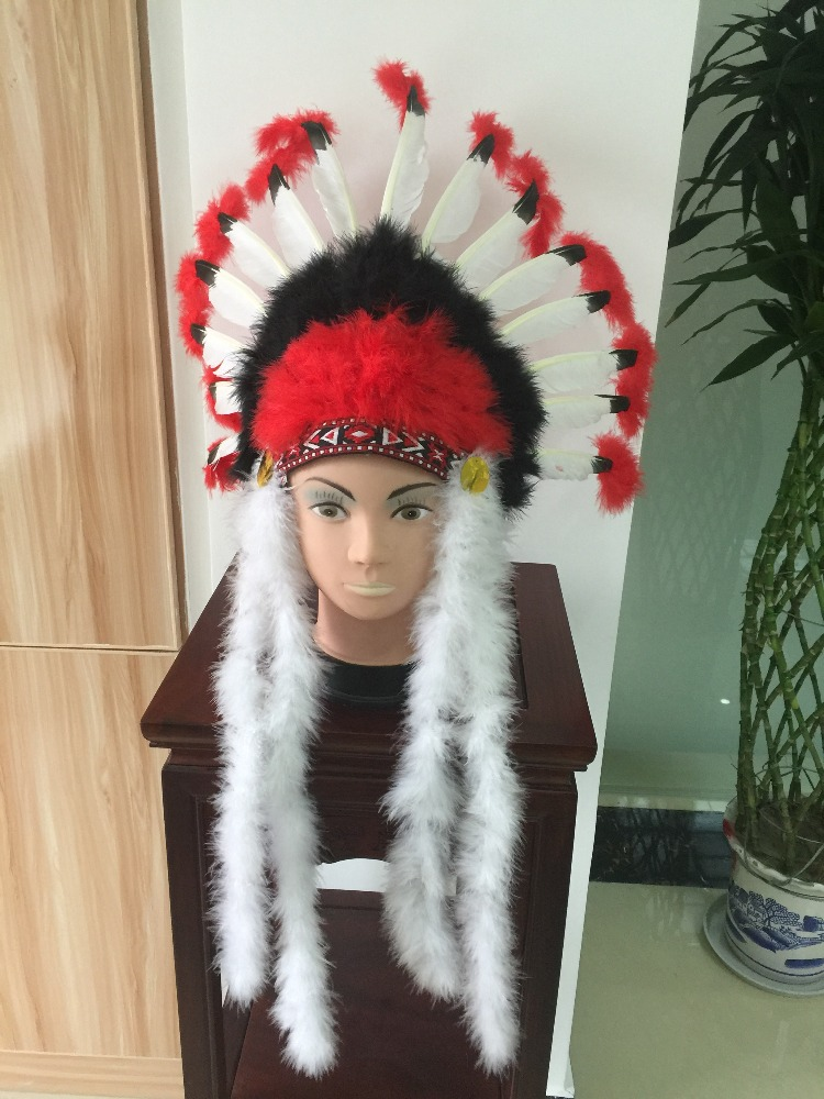 Native American Indian turkey feather headdress