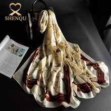 Wonderful fabric quality reasonable price women digital print long hangzhou large logo print uk silk scarf
