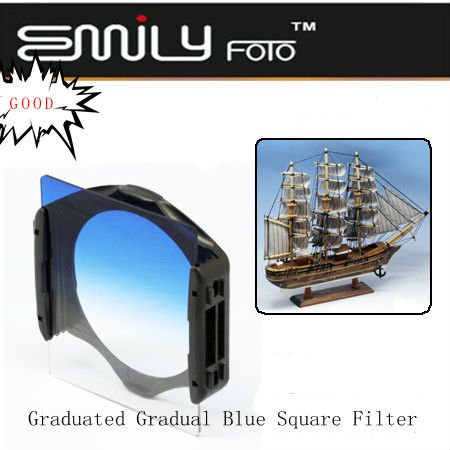 Gradual blue plastic square filters suitable for Cokin P series