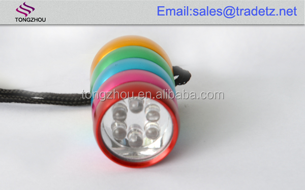Hot selling 6 led keychain gift items/business gifts/premium gift