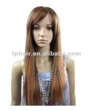 Hot and high quality fibre festival synthetic hair wig with bang