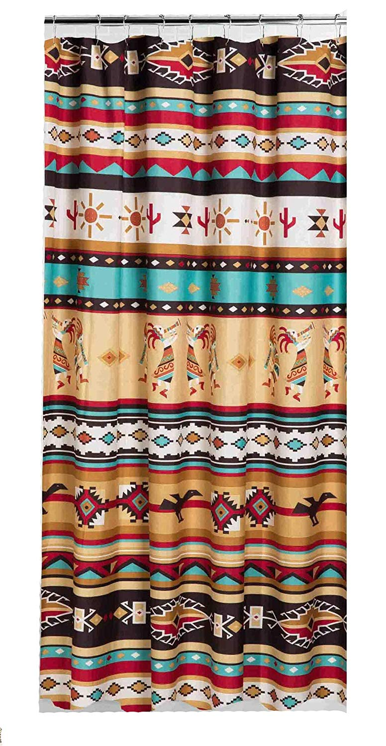 F381 Striped Southwestern Navajo Lodge Style Upholstery Grade Fabric By The Yard