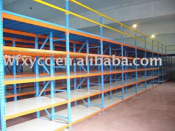 heavy duty steel long span shelving rack/shelf