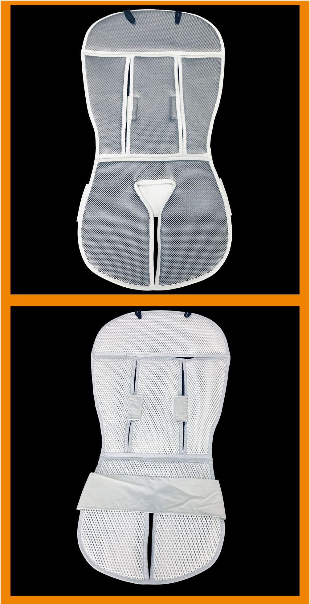 Custom baby breathable sandwich spacer fabric pram seat liner