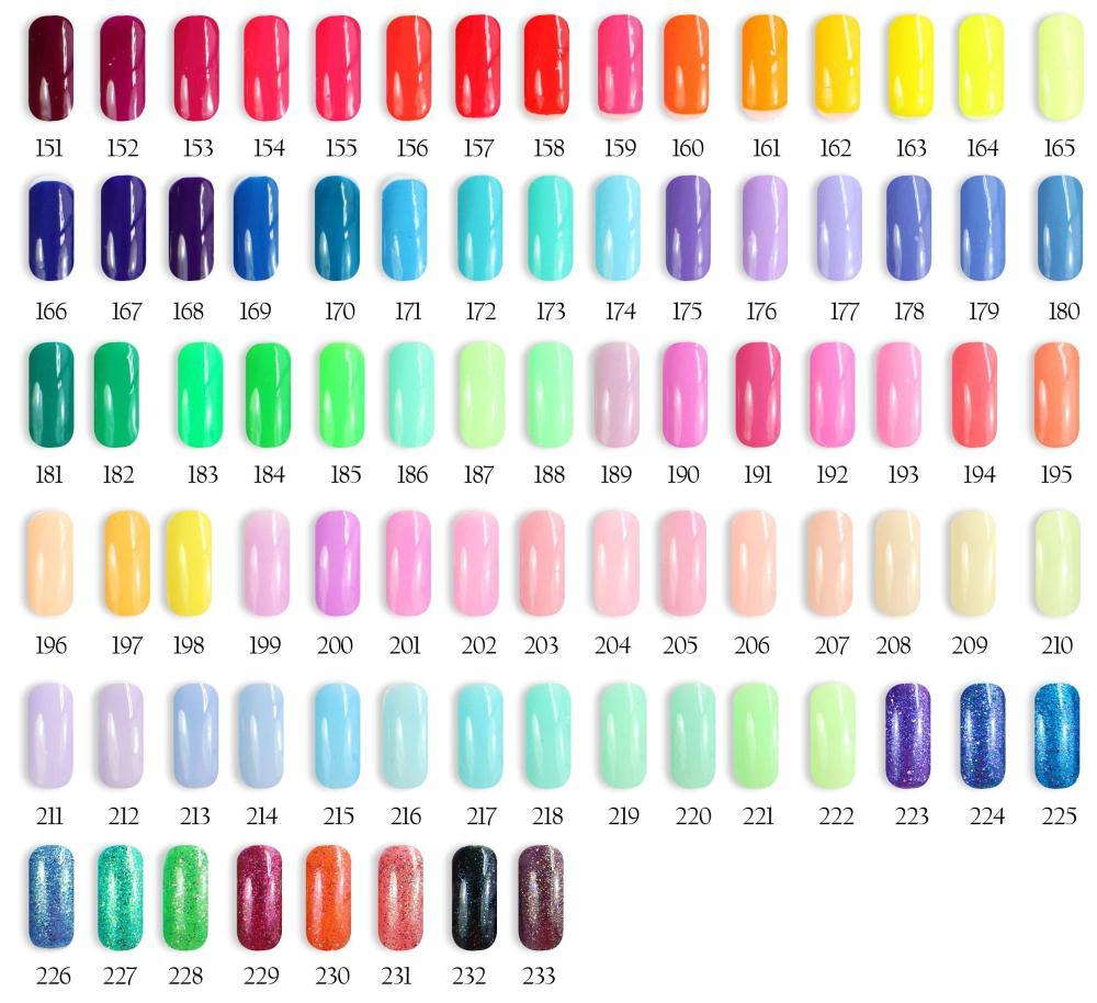 12pcs VEN Modern Soak Off Color UV Gel Nail Polish 15ml 233 colors for choice Feifan