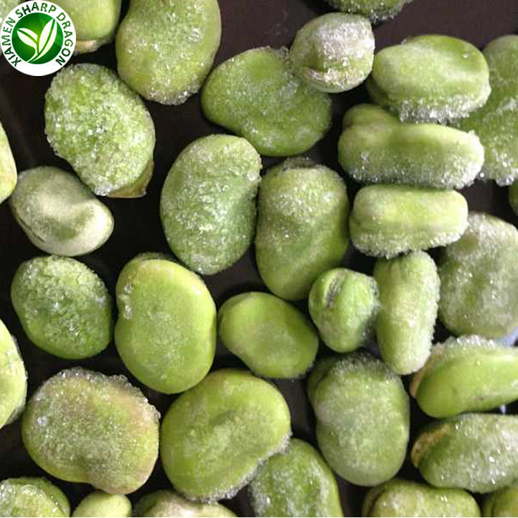 Wholesale grade A organic frozen peeled broad bean