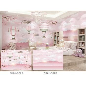 Light Pink Cartoon Baby Girl Bed Room Wall Paper Mural Wallpaper Buy Baby Girl Wallpaper Light Pink Wallpaper Bed Room Wall Paper Product On