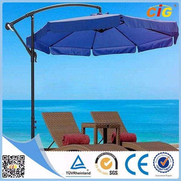 UV Resistant Luxury beach umbrella plastic table