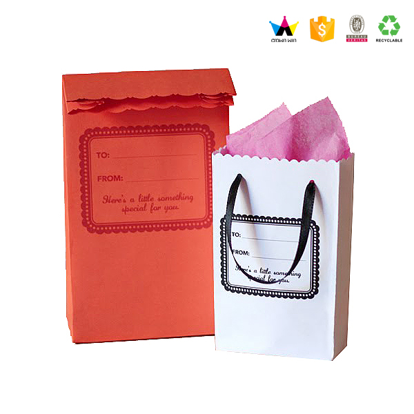 Crownwin High Quality Custom Kraft Die Cut Candy Paper Bag