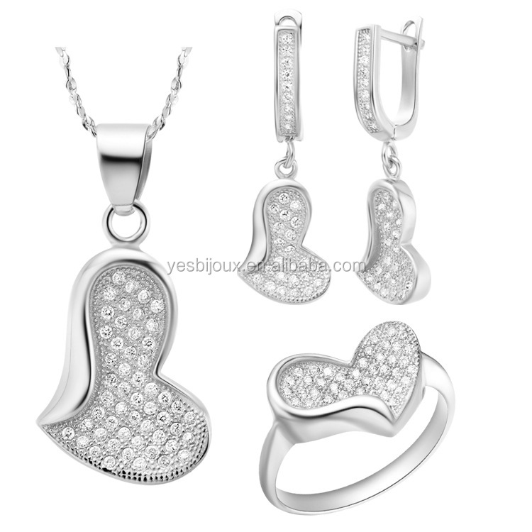 sterling silver jewelry korean micro pave eternal love ring sets