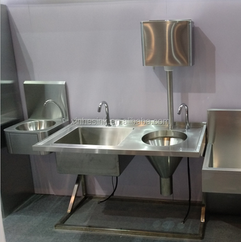 Medical Stainless Steel Sluice Sink Slop Hopper Unit With Cistern, China  Chinese Sluice Sink For