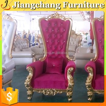 Pu Leather Fashion Wedding High Back Wing Chair Jc-kc112 - Buy High ...