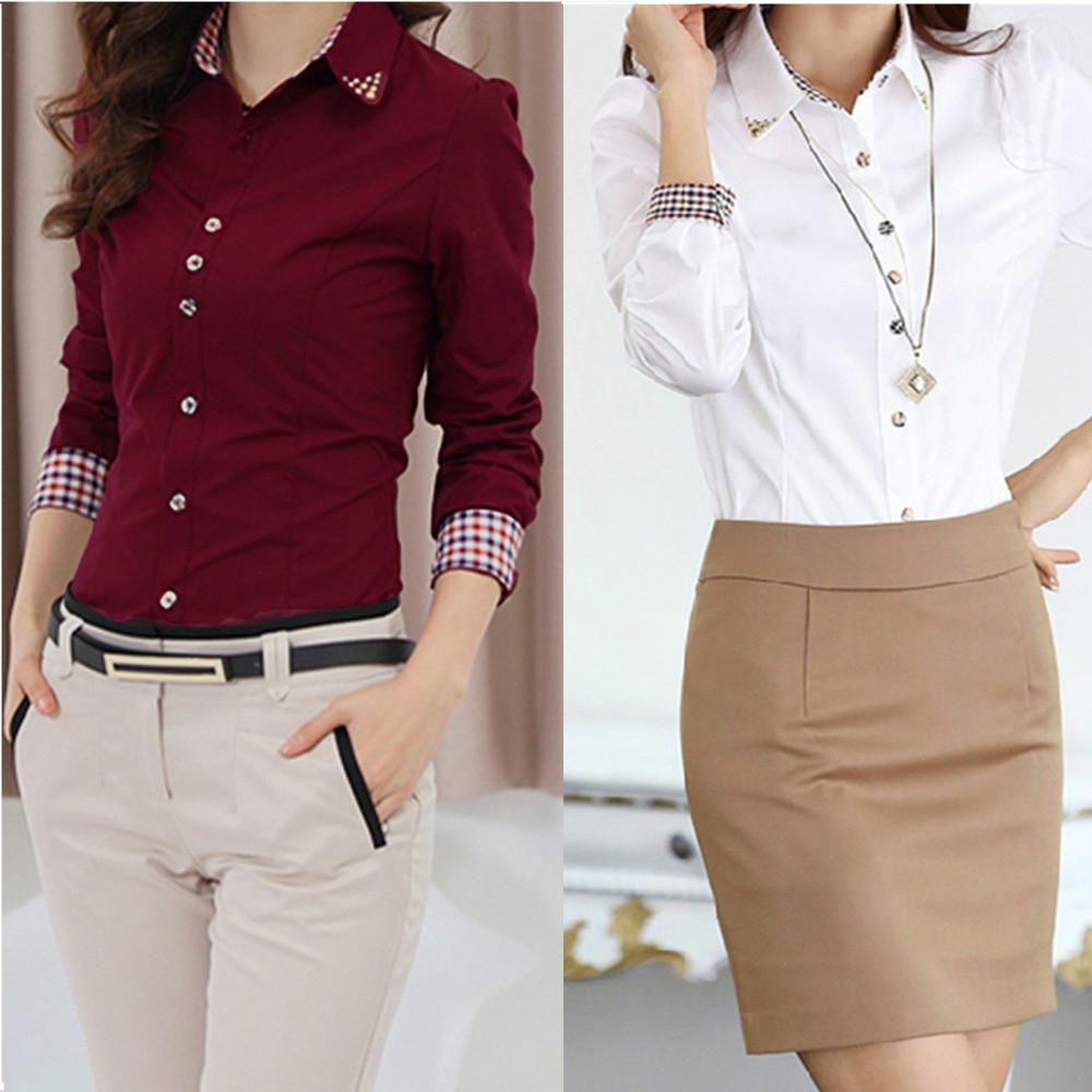 2016 Nuevo Cuerpo de la Mujer Blusas s xxl Otoño Camisas