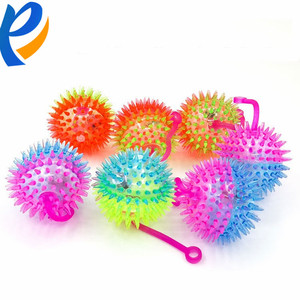 Glowing spiky handheld thorn massage jump elastic ball