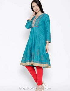 Manufacturer indian punjabi girl high quality kurta designs for women indian punjabi girl oem service indian women