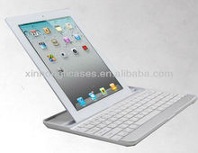 Aluminum Shell Bluetooth Keyboard Snap On Case Stand For Apple iPad 2 3 4 White