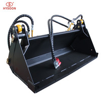 mini skid steer loader backhoe excavator 4 in 1 bucket