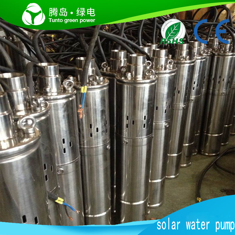 High-Speed Brushless DC Motor Submersible Centrifugal Deep Well Solar Water Pump in pumps