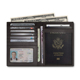 Personalized design RFID blocking leather passport holder for human