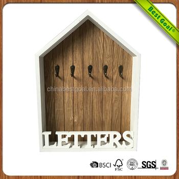 Wooden White Letter Wall Decor Hooks - Buy Wall Decor Hooks,Letter ...