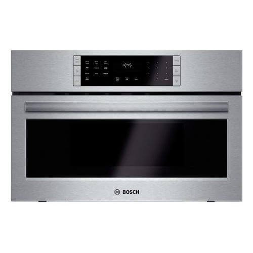 """Bosch HMC80151UC 800 30"""" Stainless Steel Electric Single Wall Oven - Convection - Speed Oven"""