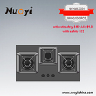 78cm Glass Panel Gas stove 3 burner heavy iron cast