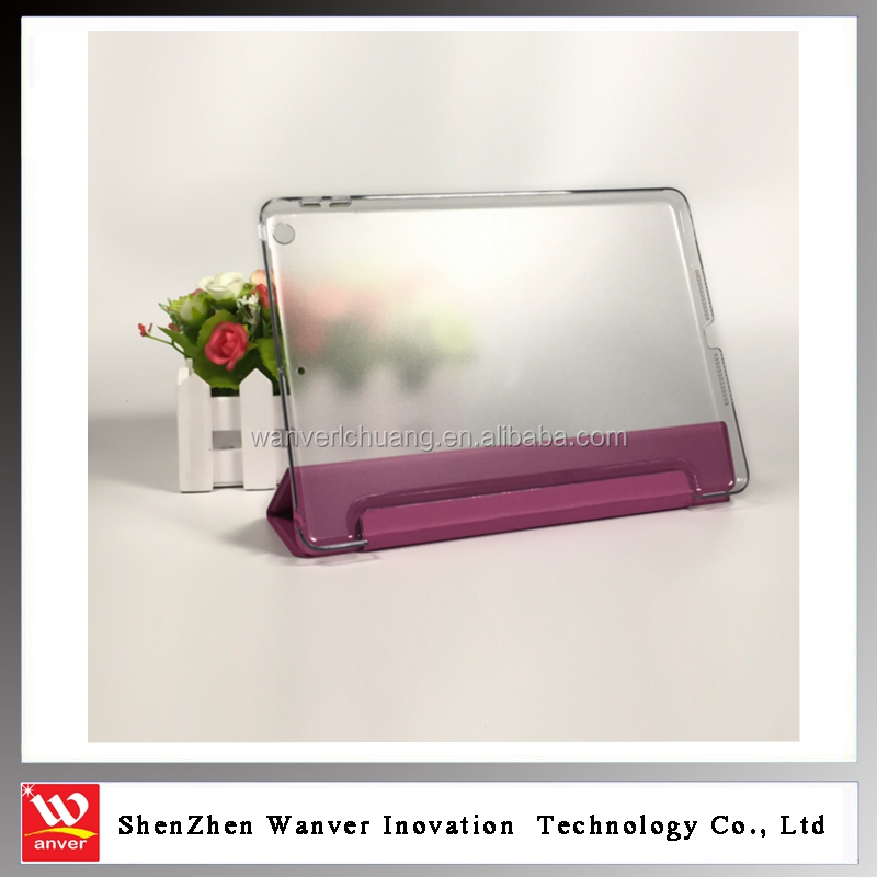 High quality Sleep function smart case cover for ipad 2/3/4 with PC back case cover