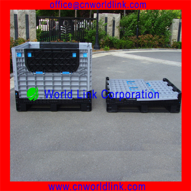 Strong Solid Moving Stackable Plastic Collapsible Large Container