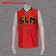 Benutzerdefinierte sublimation reversible basketball praxis jersey
