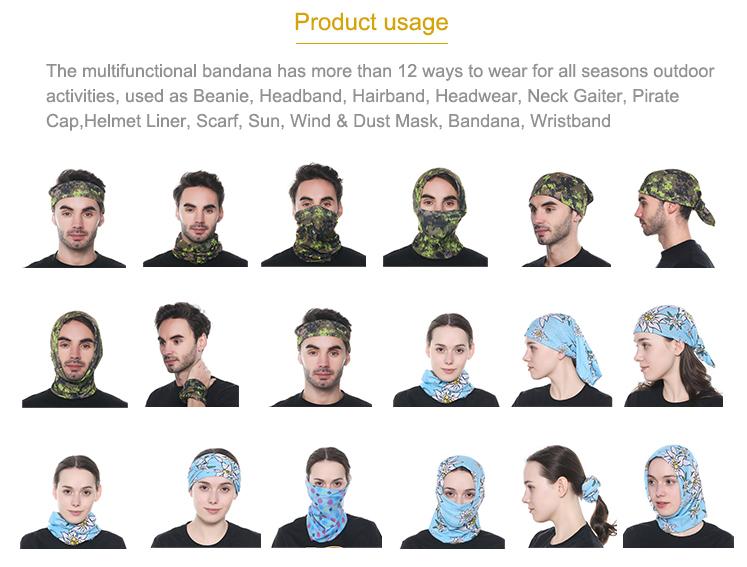 2017 Printing Elastic Nigerian Aso-oke Cycling Headwear Fashion Stretchy Scarf for Men