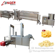 Fully Automatic Industrial Processing Plant Price Potato Chips Production Line Frozen French Fries Making Machine