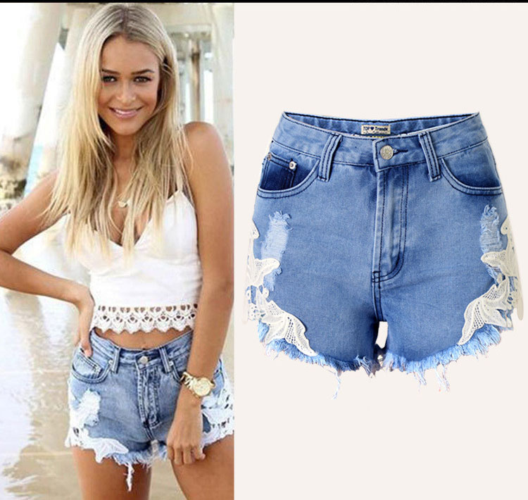 DON08 2016 Mode Sommer Niedrige Taille Denim Kurze Jeans Hose Hot Girls Sexy Board Shorts Damen Kurze Jeans Top Design