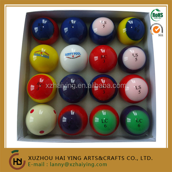 Dirty Pool Ball Set With Custom Box