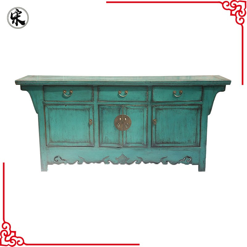 Chinese antique reproduction distressed buffet furniture for Reproduction oriental furniture
