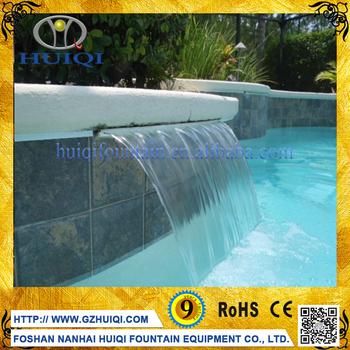 moderen besar luar ruangan kaca menari waterfall dinding