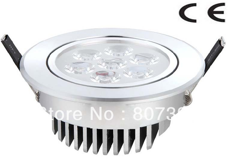2 year warranty Epistar 7w led recessed celling lamp / 7w Led recessed downlight CE & RoHS AC 85-265V