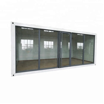 Prefabricated Glass Wall Steel Frame Sandwich Panel Container House ...