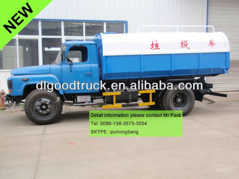 NEW Dongfeng side loader garbage truck tipper garbage truck 0086-13635733504