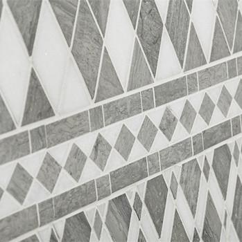 Grau Und Weiß Naturstein Marmorbad Dusche Rautenförmigen Mosaik-fliesen -  Buy Diamond Mosaik,Rautenförmigen Fliesen,Dusche Fliesen Product on ...