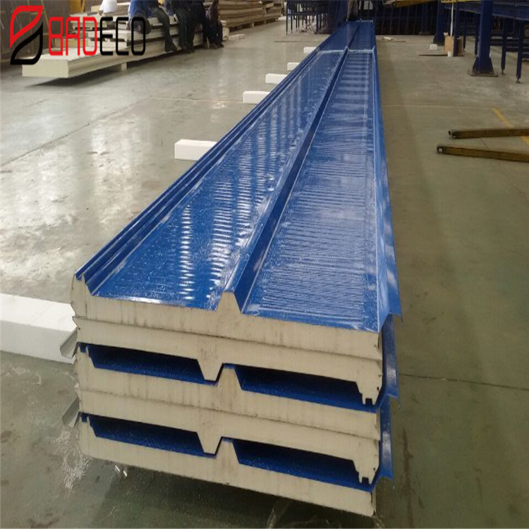 moistureproof industrial building cold room polyurethane pu sandwich roof panel