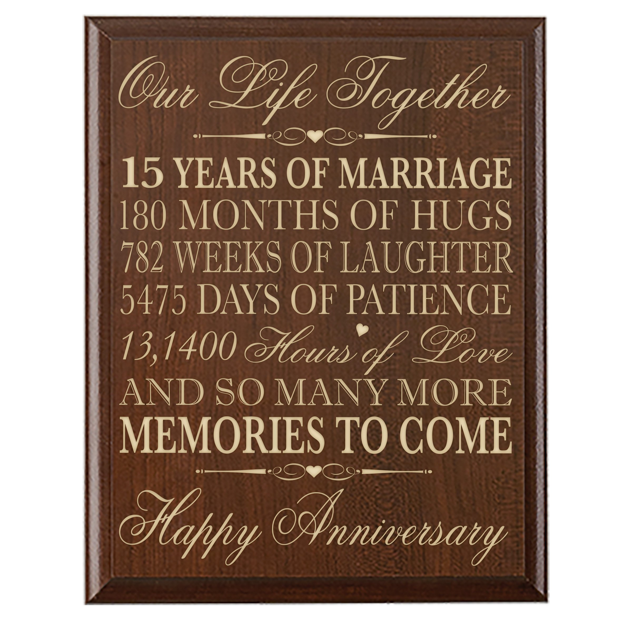 Buy 15th Wedding Anniversary Gift For Couple 15th Anniversary Gifts
