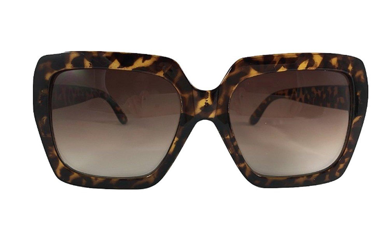 9098cb571c Get Quotations · Oversized Thick Frame Square Glasses Black Lens Eyewear  Large Fashion Sunglasses