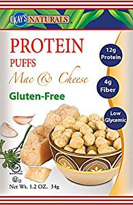 Kay's Naturals Protein Puffs Gluten Free Mac and Cheese -- 6 Bags - 2pc