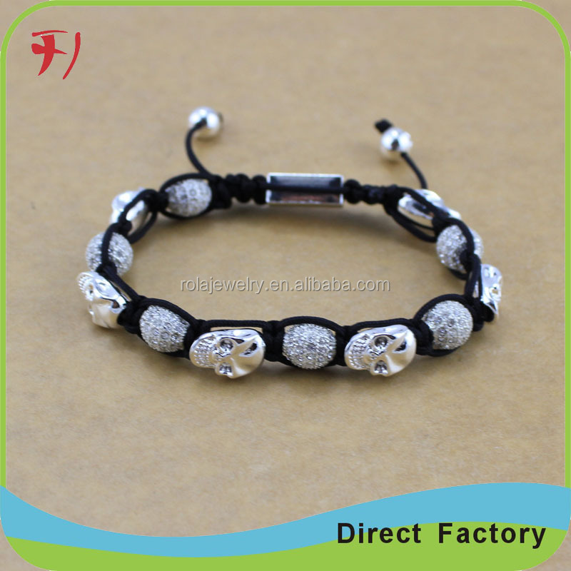 Mens Beaded Bracelets Wholesale Lava Rock Stone Beads Antique Gunmetal Skull Head Energy Bracelets