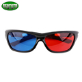 5pieces lot Black Frame Universal 3D Plastic glasses Red Blue Cyan 3D glass Anaglyph 3D Movie