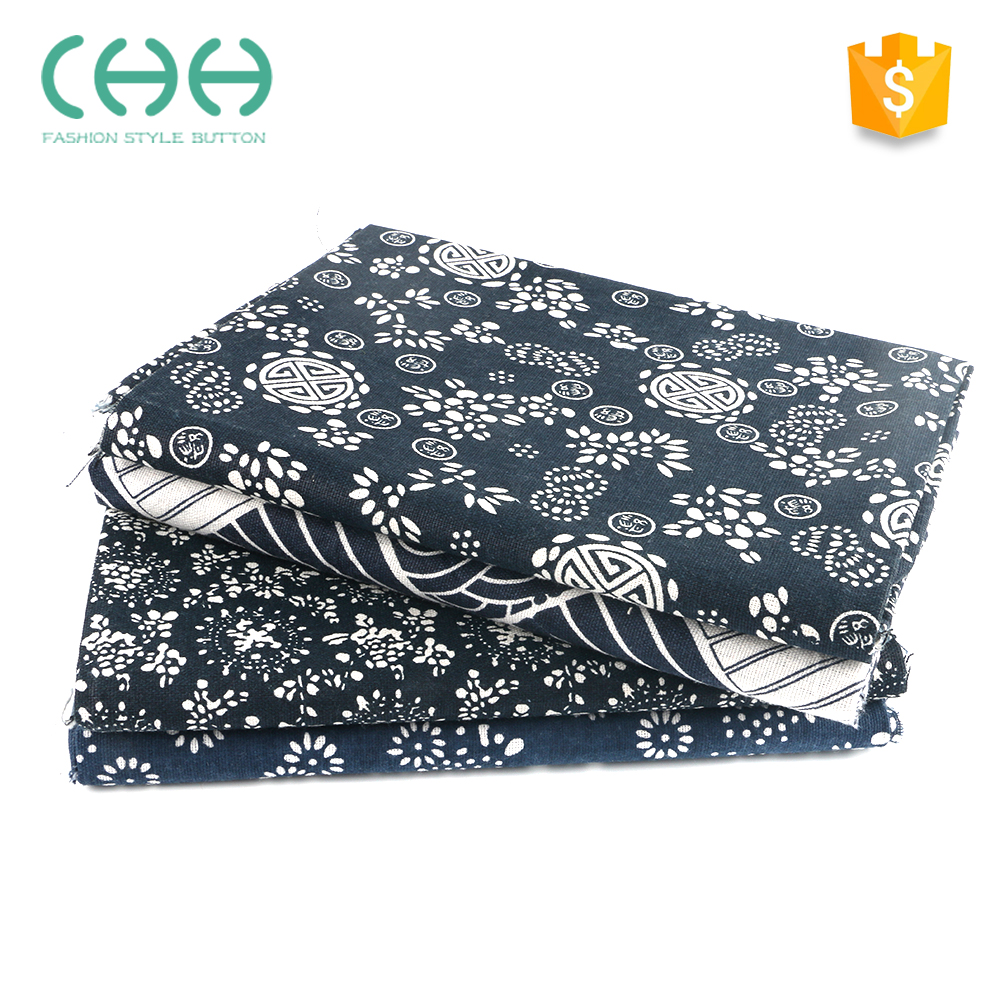 Hot sale wear-resistant printed natural linen cotton cloth for curtain