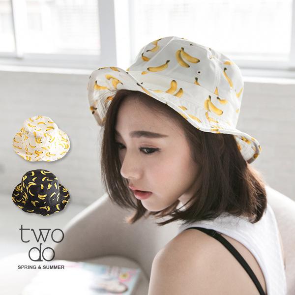 ... 2016 Korean Summer Kawaii Sweet Fruit Banana Pattern Bucket Hats Travel  Fashionista Basin Hats Sun Hats ... 07a199fc811