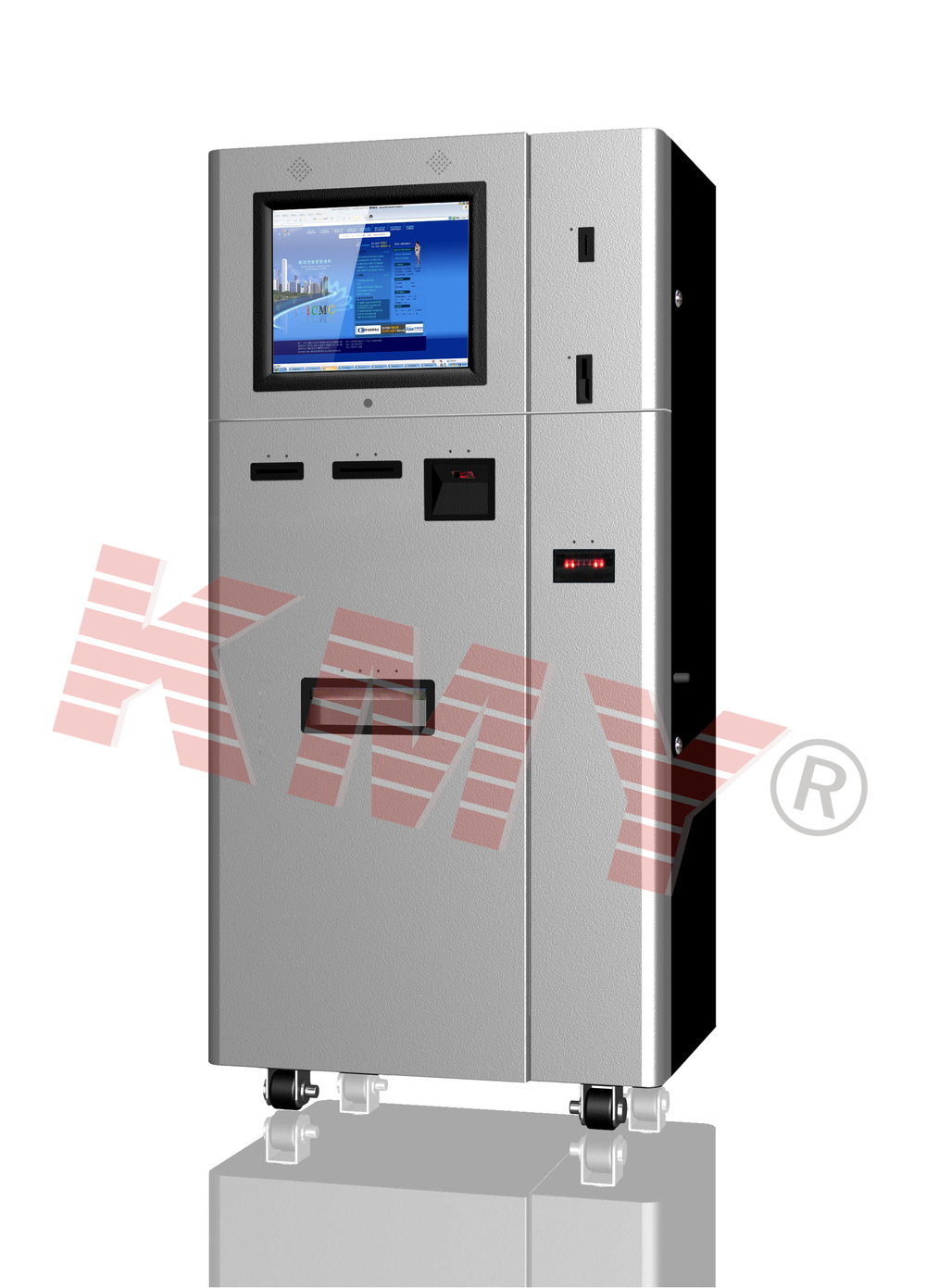 OEM/ODM Floor standing touch screen automatic vending kiosk with check acceptor